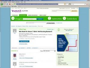Yahoo! Clever (Screenshot)
