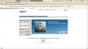 Paypal Phishing Seite