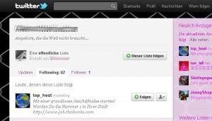 Twitterliste (Screenshot)