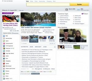 Yahoo! Deutschland mit Adblock