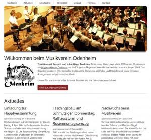 Webseite des MV Odenheim